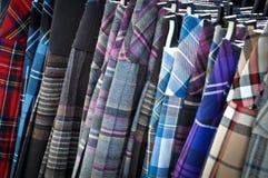 五颜六色的苏格兰男用短裙 库存图片