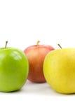 五颜六色的苹果 库存图片