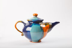 五颜六色的茶壶 免版税库存图片