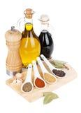 五颜六色的草本和香料选择 免版税库存图片