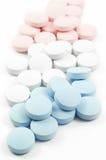 五颜六色的药物药片 免版税图库摄影