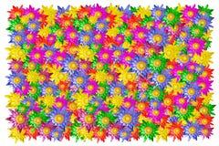 五颜六色的莲花 免版税库存照片