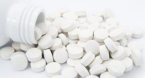 五颜六色的获得的健康许多药剂其他药片次幂有些片剂对维生素 免版税库存图片
