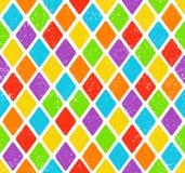 五颜六色的菱形样式 免版税库存图片