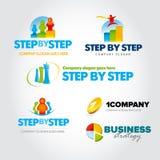 五颜六色的营销略写法设置了,营销商标,地图,市场,社会营销,被隔绝的传染媒介商标模板 库存例证