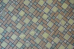 五颜六色的葡萄酒样式陶瓷砖 免版税库存照片