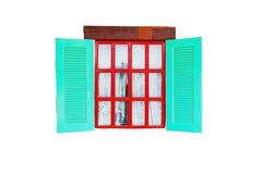 五颜六色的葡萄酒窗口 免版税库存照片