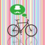 五颜六色的葡萄酒自行车 免版税库存图片