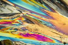 五颜六色的蔗糖微小水晶 免版税图库摄影