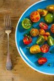 五颜六色的蕃茄沙拉 免版税库存图片