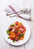 五颜六色的蕃茄沙拉 免版税图库摄影
