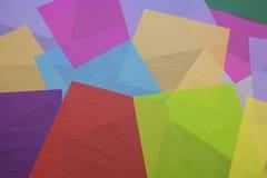 五颜六色的薄纸拼贴画 库存图片