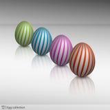 五颜六色的蛋收藏 免版税图库摄影