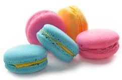 五颜六色的蛋白杏仁饼干 库存图片