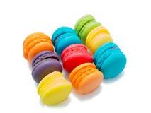 五颜六色的蛋白杏仁饼干形成 免版税库存图片