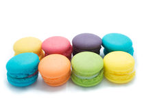 五颜六色的蛋白杏仁饼干形成 图库摄影