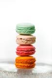 五颜六色的蛋白杏仁饼干收藏 免版税库存照片