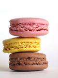 五颜六色的蛋白杏仁饼干 库存照片