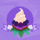 五颜六色的蛋糕甜美丽的杯形蛋糕点心可口食物 库存例证