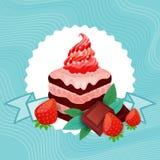 五颜六色的蛋糕甜美丽的点心可口食物 皇族释放例证