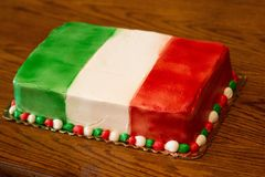 五颜六色的蛋糕 免版税库存照片