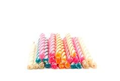 五颜六色的蜡烛 免版税图库摄影