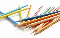 五颜六色的蜡笔 免版税图库摄影