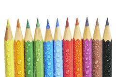 五颜六色的蜡笔 免版税库存图片