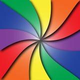 五颜六色的螺旋红色橙黄色青绿的紫色 库存照片