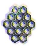 五颜六色的螺母 库存照片