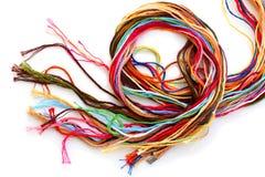 五颜六色的螺纹绣花丝绒 免版税图库摄影