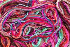 五颜六色的螺纹绣花丝绒 免版税库存照片