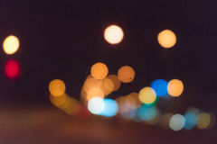 五颜六色的街道交通bokeh背景 库存照片