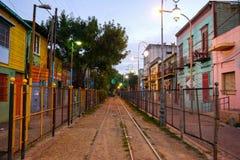 五颜六色的街道在布宜诺斯艾利斯Boca区  库存图片