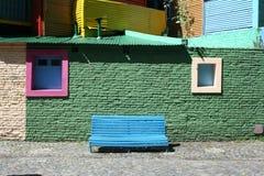 五颜六色的街道在Boca 图库摄影
