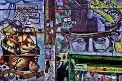 五颜六色的街道街道画 图库摄影