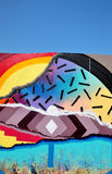 五颜六色的街道画墙壁 免版税图库摄影