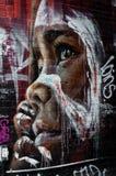 五颜六色的街道画艺术品当街道艺术在墨尔本,澳大利亚 免版税图库摄影