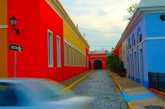 五颜六色的街道 免版税库存图片