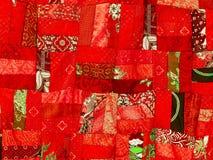 五颜六色的补缀品毯子 免版税库存照片