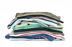 五颜六色的衬衣t 免版税库存图片