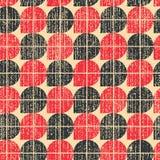 五颜六色的被佩带的纺织品几何无缝的样式,对比摘要 免版税库存照片