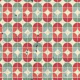 五颜六色的被佩带的纺织品几何无缝的样式 免版税库存照片