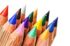 五颜六色的被削尖的铅笔 免版税图库摄影