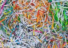 五颜六色的被回收的纸 库存照片