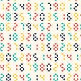 五颜六色的被带领的数字无缝的样式 免版税库存照片