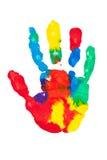 五颜六色的被绘的掌上型计算机打印 库存照片