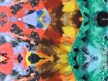 五颜六色的被绘的摘要可能使用作为背景 免版税库存图片