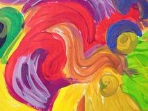 五颜六色的被绘的摘要可能使用作为背景 库存照片