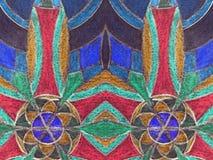 五颜六色的被绘的摘要可能使用作为背景 图库摄影